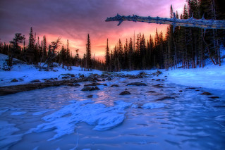 Sunrise over Frozen Dream Lake | by 12thSonOfLama