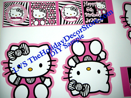 hello kitty birthday party zebra print diy centerpieces pr flickr