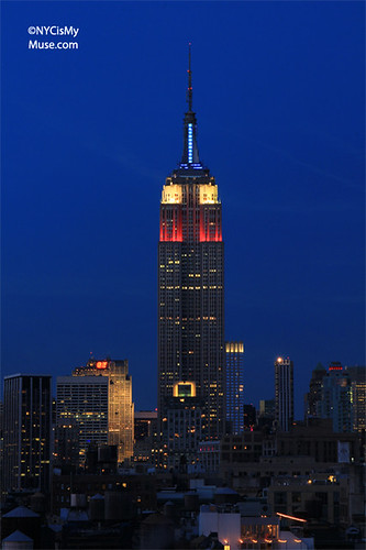 Empire State Building in patriotic Red, White & Blue for Presidents' Day | by NYCisMyMuse
