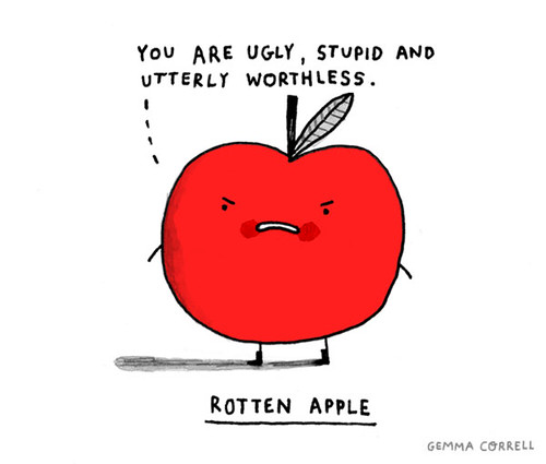 rotten apple | by gemma correll