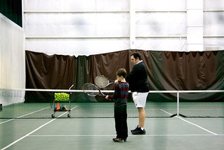 3/8/12 1st Tennis Lesson | by rayfamilyfarm