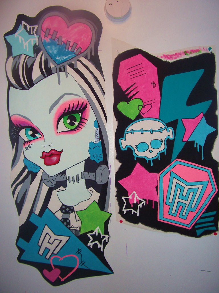 Monster High Wall Decor monster high doll wallpaper art sricker mural handmade roo… | flickr