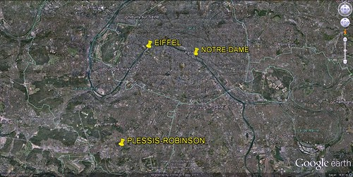 Plessis-Robinson in relation to central Paris (GE) | by mapei
