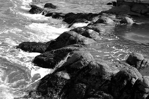 Rocky waves Black and white | by Jasie Hiss