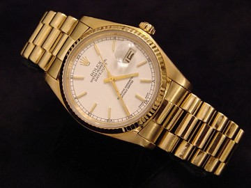 Rolex Datejust Mens Gold