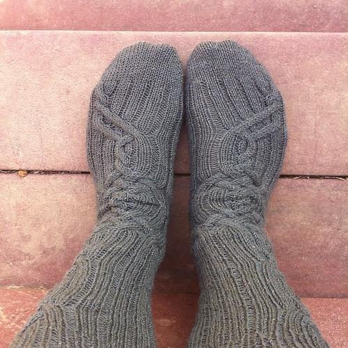 Socks I #nofilter #handknit #instagram