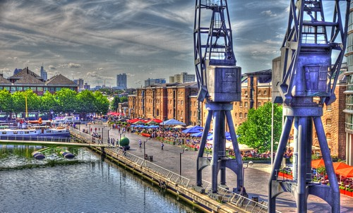 Tonemapped docks at West India Quay | by Dave Pearce (London)