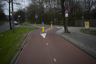 Rotterdam Cycle Track and Entrance to Petrol Station | by Mikael Colville-Andersen