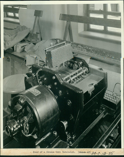Head of a Census Unit Tabulator, 1940 - 1941 | by The U.S. National Archives