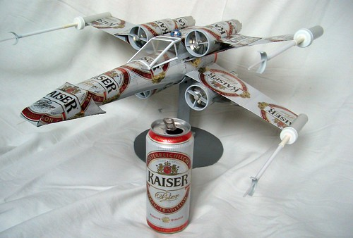 recycling art,beer can plane,x-wing | by tom-tom69