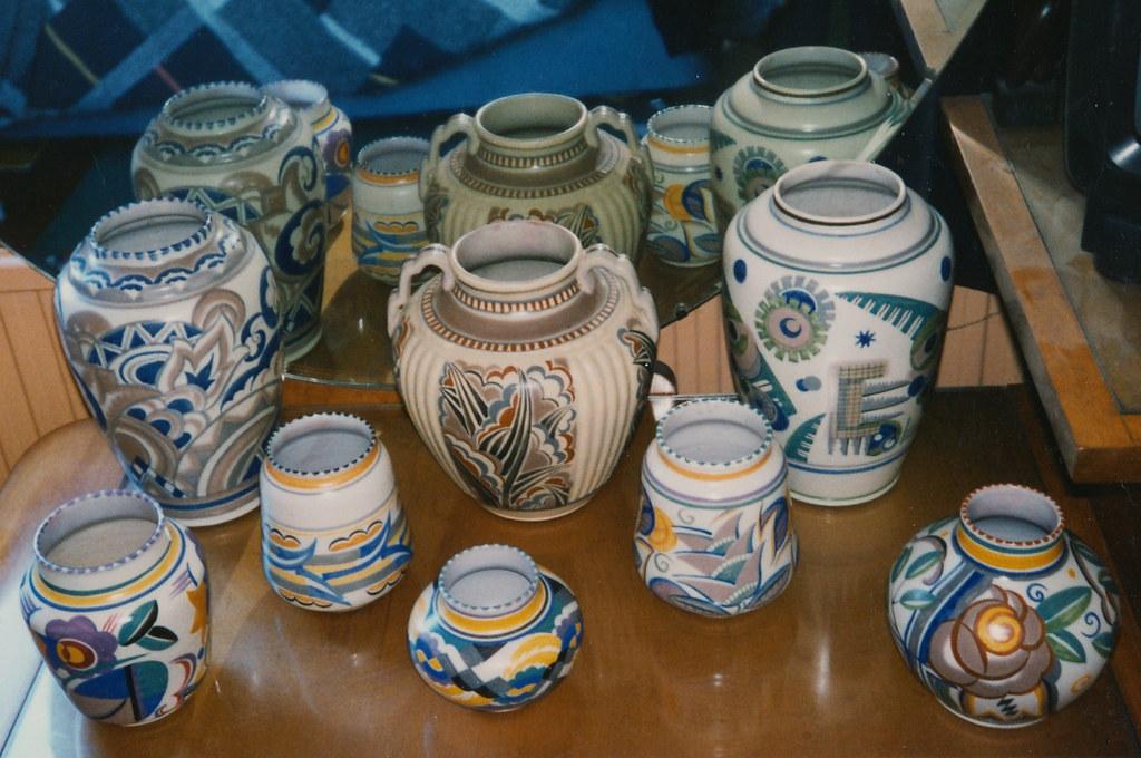 Art Deco Poole Pottery Vases 1930s Sold John Clark Flickr