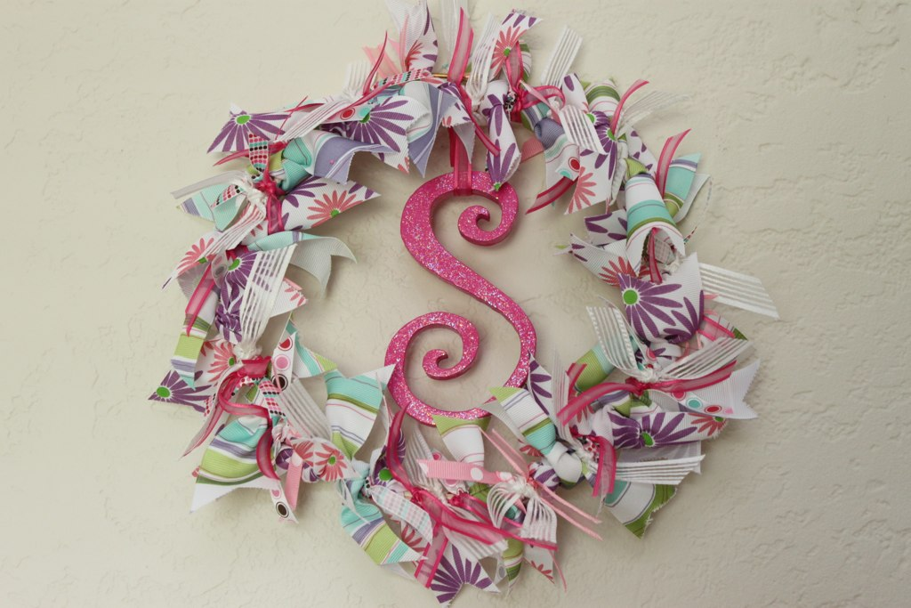 Wreath Keepsake Gift From Baby Shower Ribbons It Took Me T Flickr