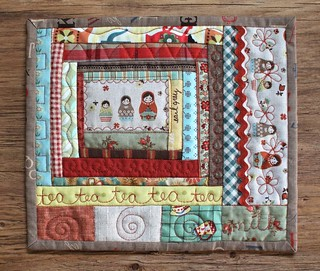 Log Cabin Mug Rug | by PatchworkPottery