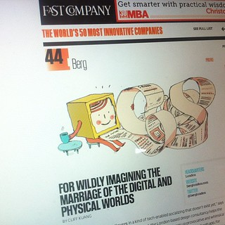 BERG on Fast Company's list of the world's 50 most innovative companies, 2012 | by genmon