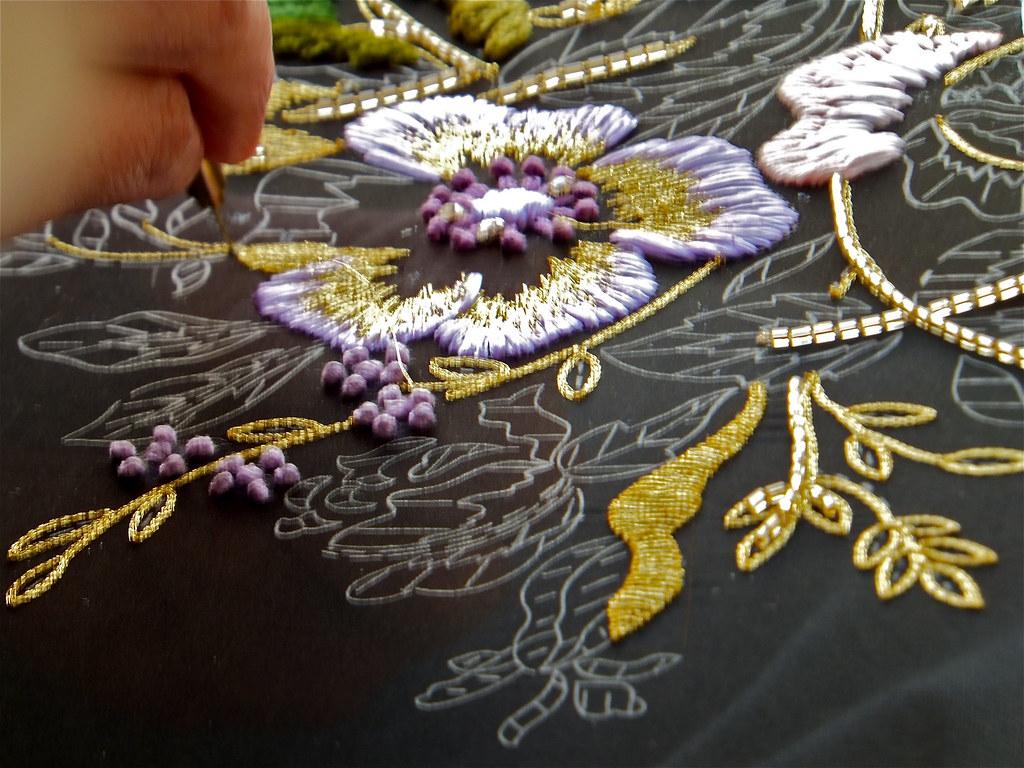 Tambour Embroidery Ecole Lesage Paris France Piece In Pr