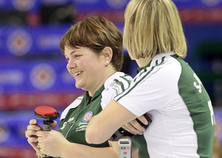 Team PEI having fun at the Scotties | by seasonofchampions