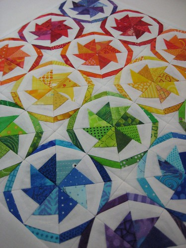 From an Angle- Wheel of Fortune Mini Quilt | by FlossieBlossoms