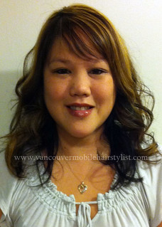 asian-hair-highlights-layered-haircut | by vanmobilehair