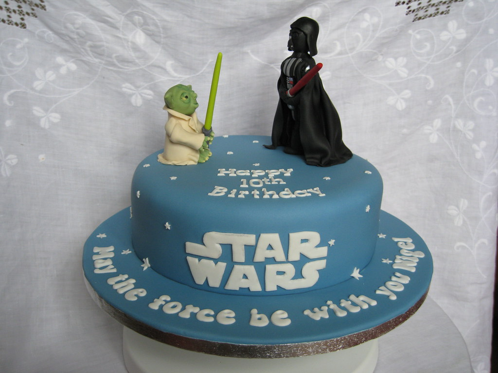 Star Wars Birthday Cake This Was Actually A 40th Birthday Flickr