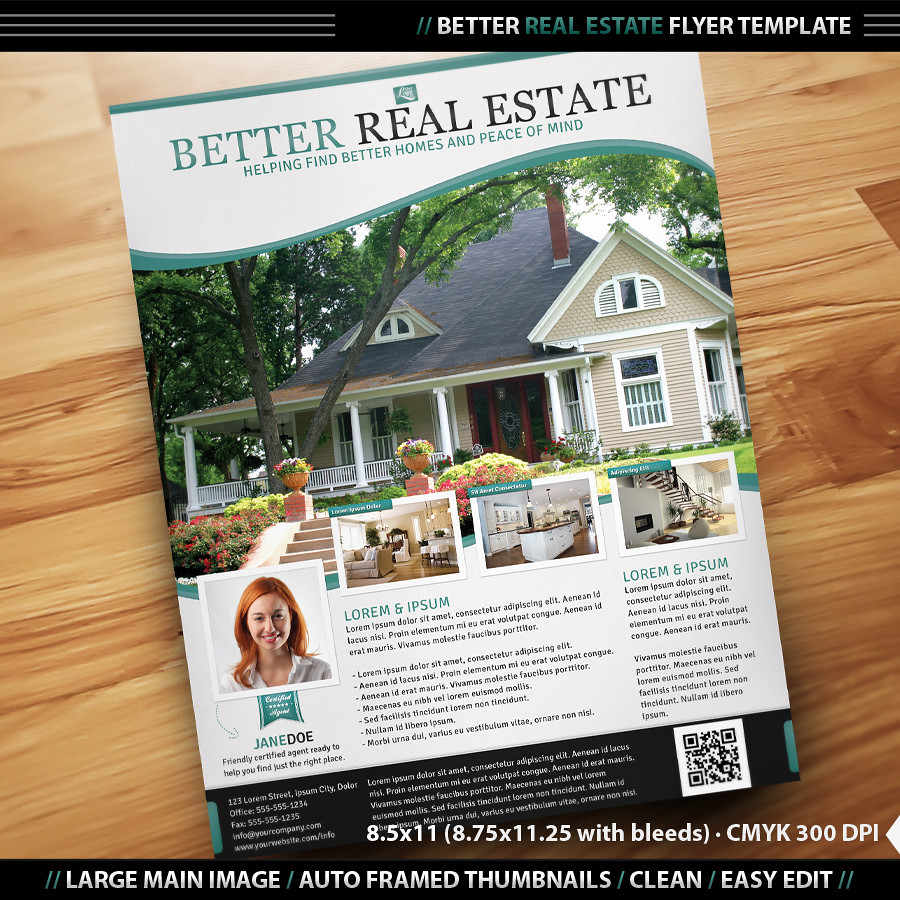 doc home flyer template real estate agent flyer payroll schedule templateqr code shopping home flyer template real estate