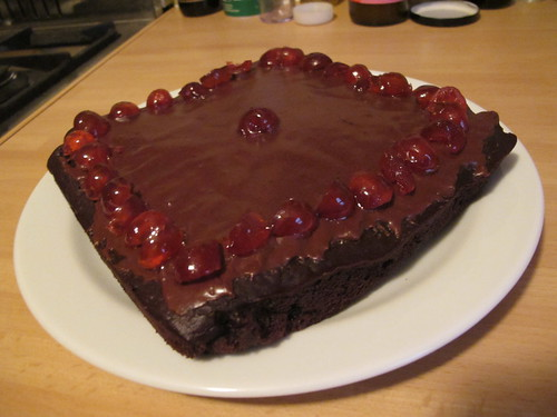 Chocolate caek with cherries | by Rain Rabbit
