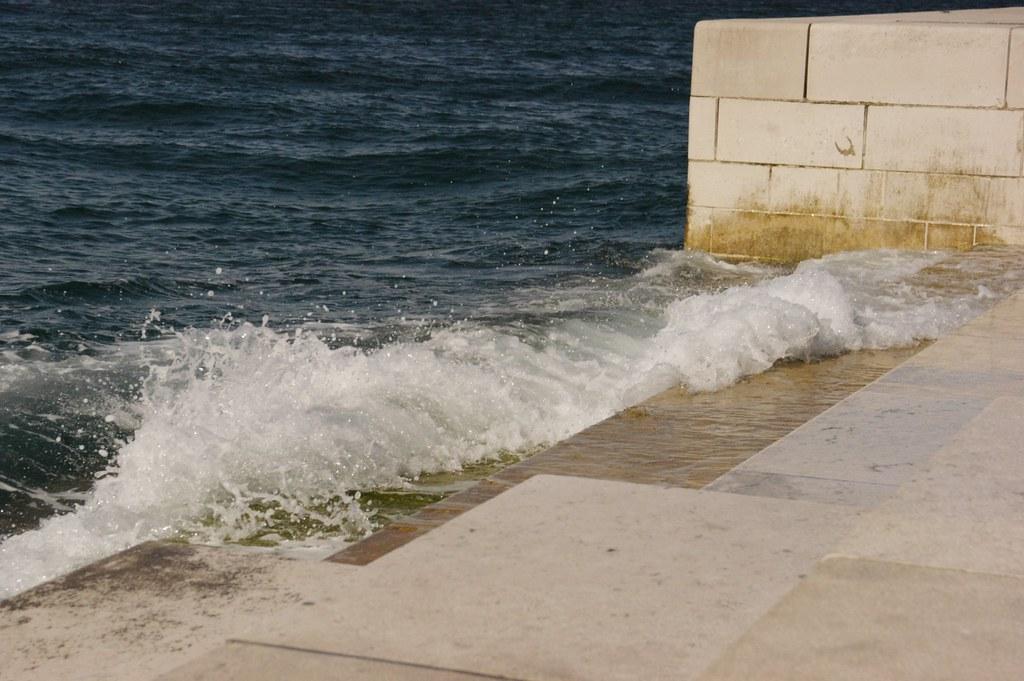 Steps by the Zadar sea organ