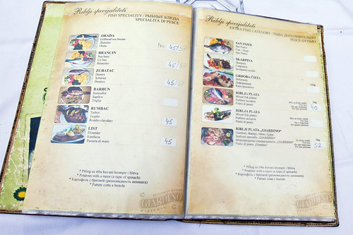 As Restaurant Kotor Menu