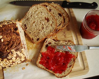 Cranberry Walnut Oat Bread with Minty Strawberry Jam | by ComeUndone