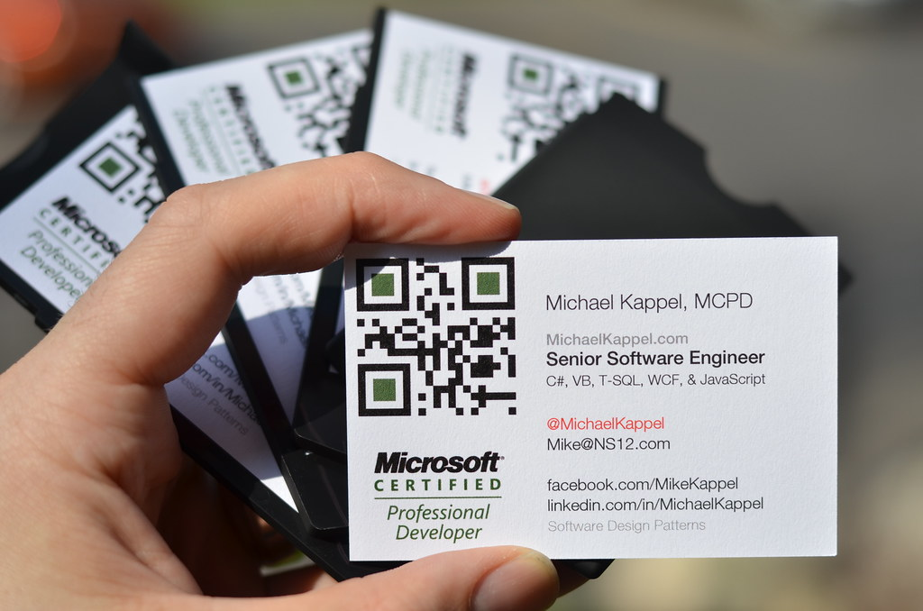 Software Developer Business Cards | Microsoft Certified Prof… | Flickr