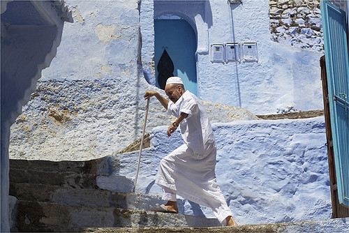 280. Climbing the Stairs, Chaouen, Morocco | by Charlottine'sPics - ingridstainier.com