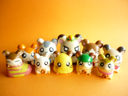 Kawaii Cute Hamster Characters Hamtaro/Hamutaro Mini Figure Toy | by Kawaii Japan