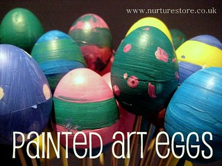 painted Easter eggs | by Cathy @ Nurturestore.co.uk