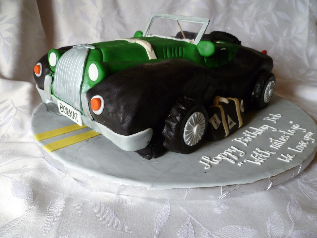 Morgan Sports Car Birthday Cake This sculpted birthday cak Flickr