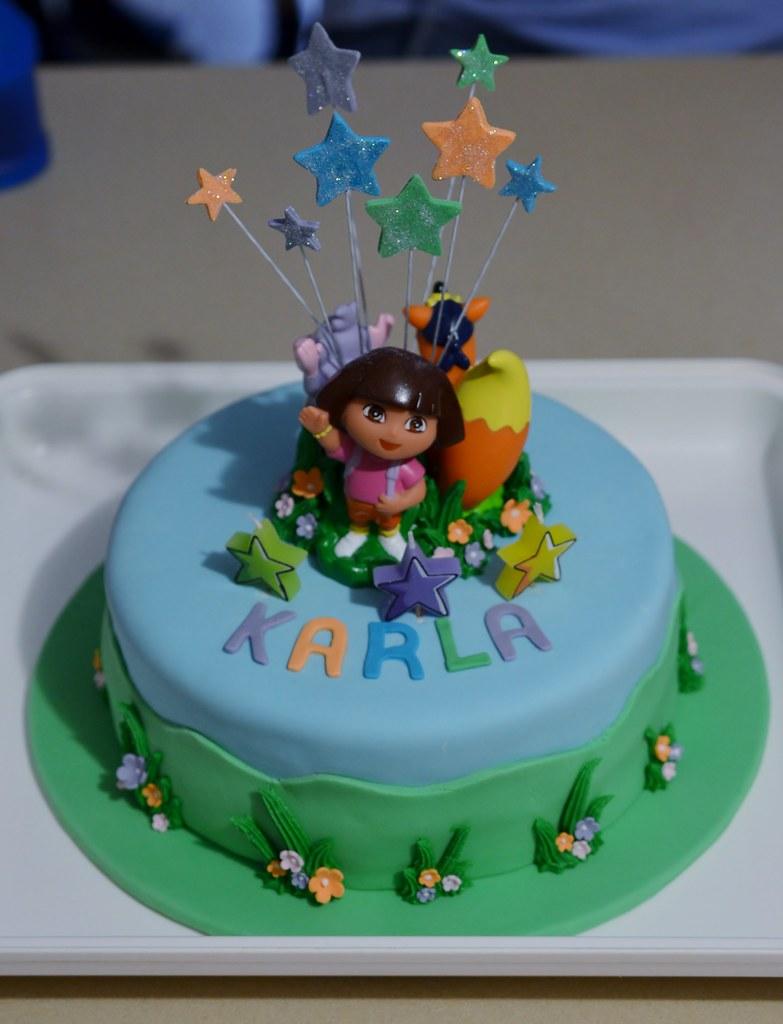 Karlas Dora Birthday Cake Dora Birthday Cake For Karlas Flickr