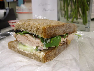 Deli turkey with cucumber and mixed greens | by chick_pea_pie
