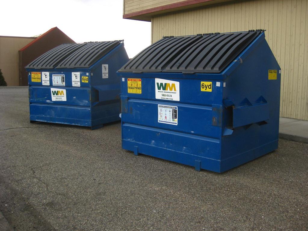 Single-Stream Recycling Dumpsters | Behind Jo-Ann Fabrics in… | Flickr