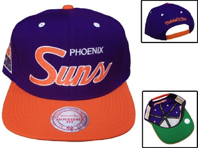 0c9819d0a74 ... NBA Mitchell   Ness - Phoenix Suns Snapback Hats Cap - Blue Orange