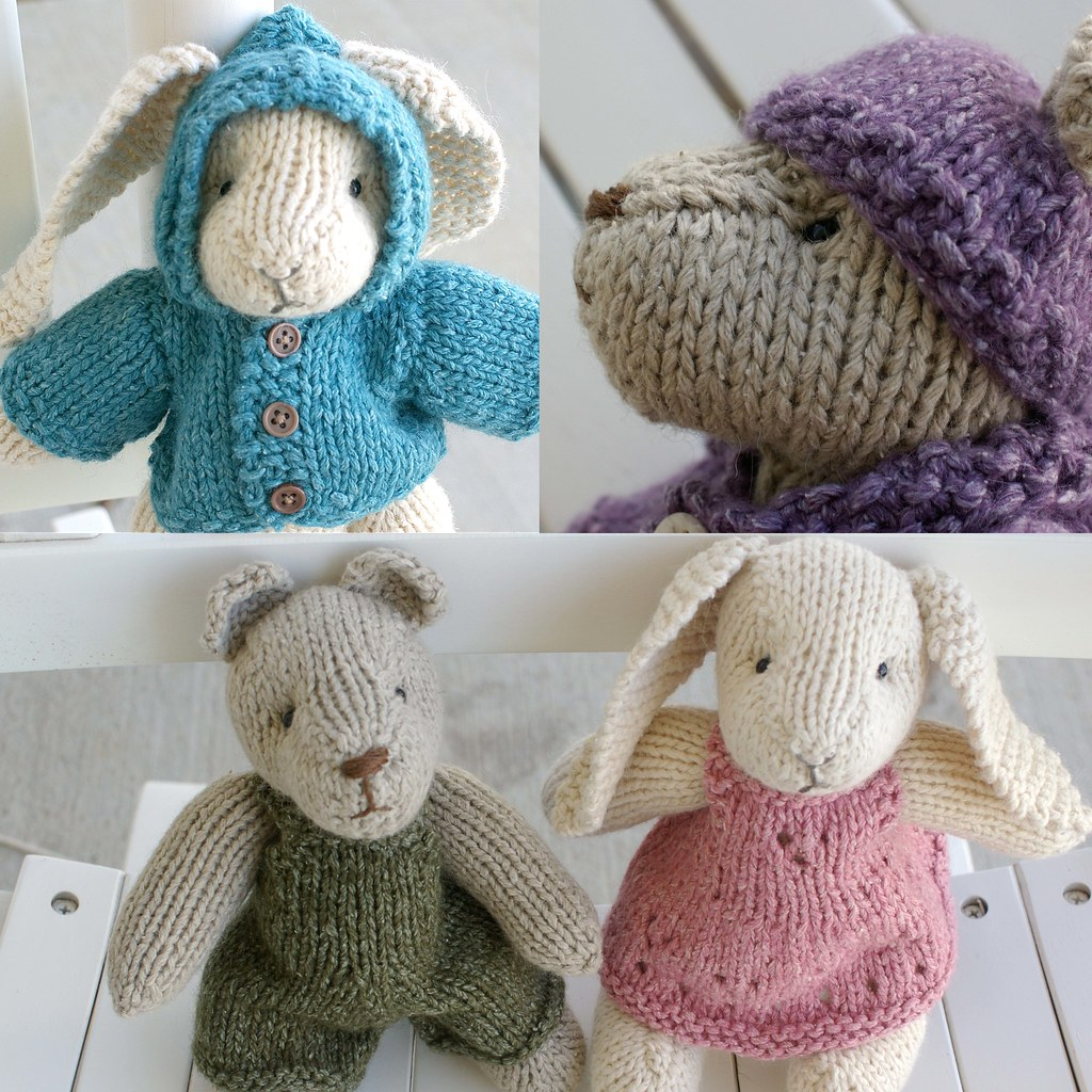 Knitting Pattern for Rabbit and Bear   My pattern is finally…   Flickr