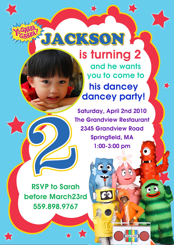 Yo Gabba Gabba- Custom Birthday Invitation | Printable Birth… | Flickr