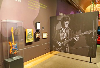 Exhibit at the National Museum of the American Indian in New York City honoring songwriter/guitarist Robbie Robertson of the Band. Canadian Robertson's mother, Rose Marie Chrysler, was a full-blooded Mohawk. | by John Wisniewski