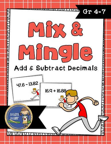 5 Ways to Move in Math | Mix and Mingle Add and Subtract Decimals | Free | Teachers Pay Teachers