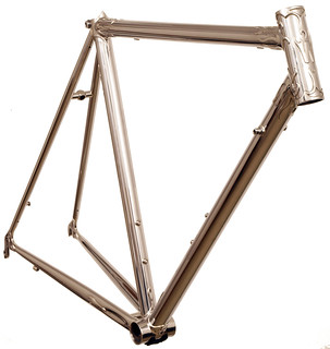 Front View of Waterford Stainless Frames with flame custom lugs. | by waterfordbikes