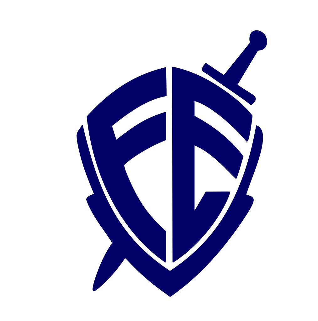 ... FÉ logo azul marinho  51dea6485587f
