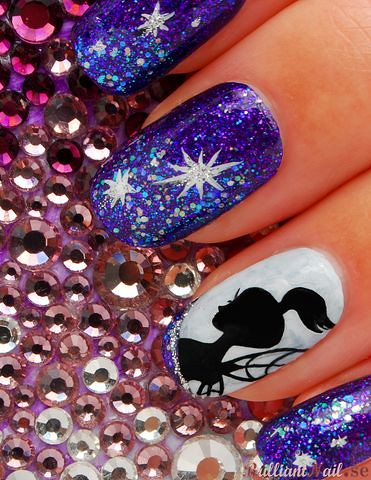 Nail Art Star Fairy Freehand Painted Nail Art With Acrylic Flickr
