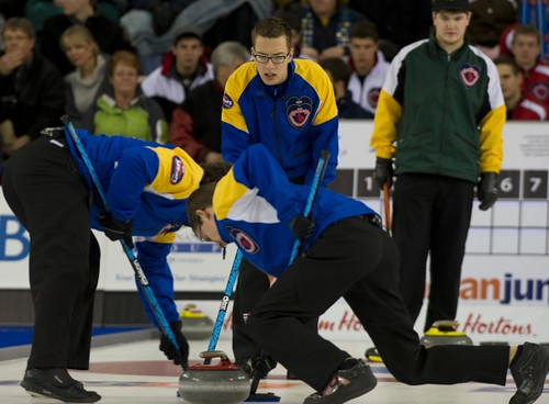 Napanee, ON Feb 12 2011 M&M Canadian Juniors Team Alberta Skip Brendan Bottcher. Michael Burns Photo Ltd. | by seasonofchampions