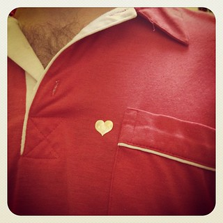 Shirt & gold heart sticker | by Nathan Wade Carter