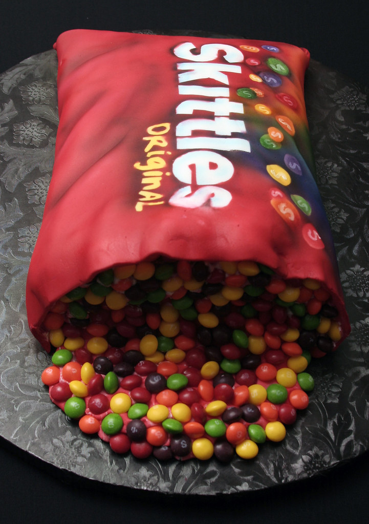 Skittles Cake Images