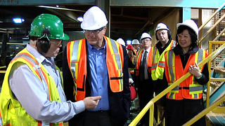 Minister Thomson tours Saltair Mill | by BC Gov Photos