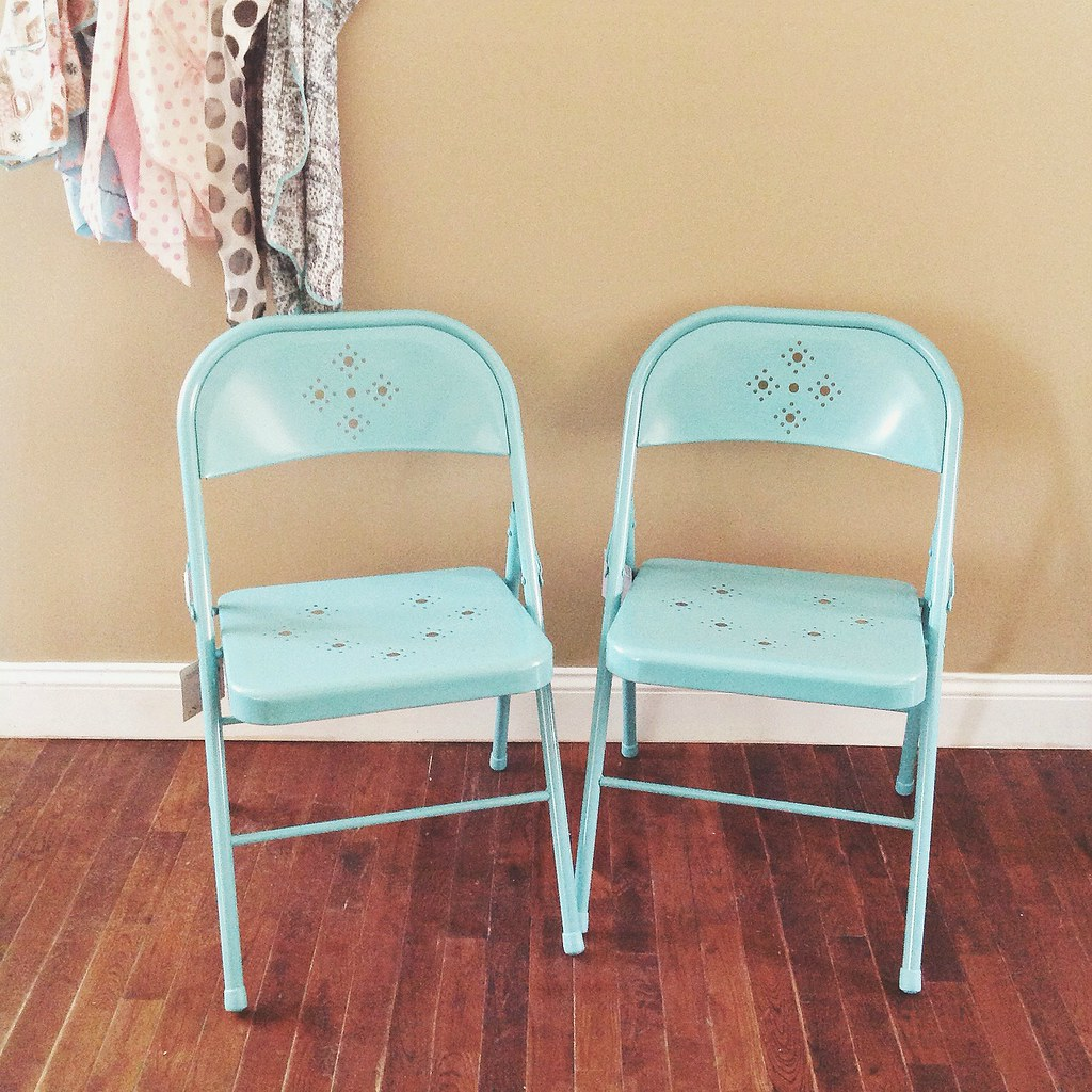 Nice ... The Most Adorable Aqua Metal Folding Chairs Found At Target! Blogged |  By Holiday_jenny