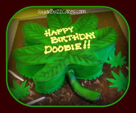 Marijuana Leaf Birthday Cake Well The Cake Isn T Illegal Flickr